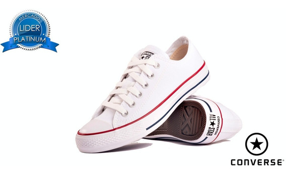 Zapatillas Converse All Star Ox Blanca Negra Rojo Unisex