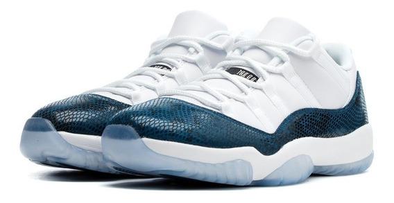 Tenis Jordan 11 Low Snake Navy Originales Envio Gratis