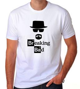 Camiseta Branca Breaking Bad Heisenberg White Série Tv 03