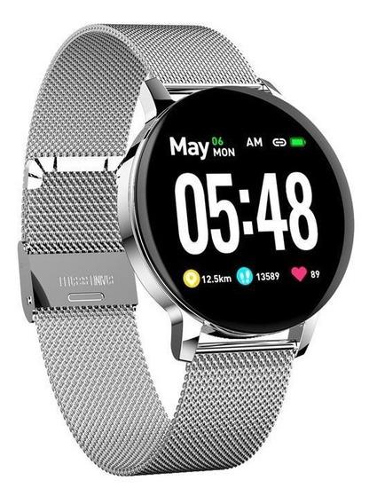 Smartwatch Inteligente Whats Km Batimentos Pulseira Metal