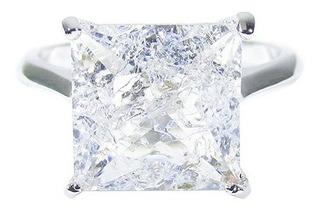 Anel Semijoia Quadrado Cristal Fusion Banho Ouro Ou Ródio
