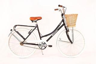 Bicicleta Paseo Vintage Dama Bassano R27.5 Canasto Mimbre