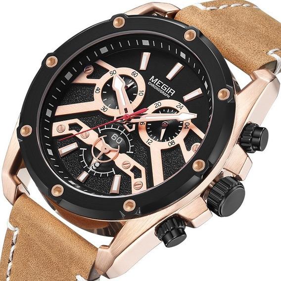 Megir 2120 Homem Relógio De Quartzo Negócio À Prova D