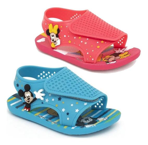 Sandalias Minnie Mickey Disney Original Ct Plumitaa Sandmk