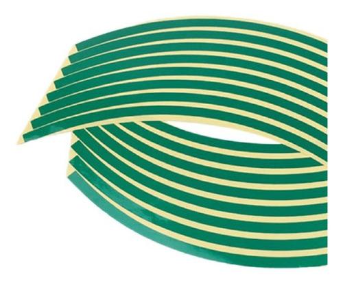 Adhesivo Reflectivo Para Llanta Verde