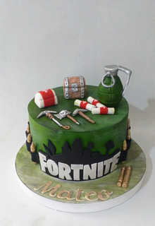Tortas Decoradas Fortnite, Videojuegos, Batalla,battle Royal