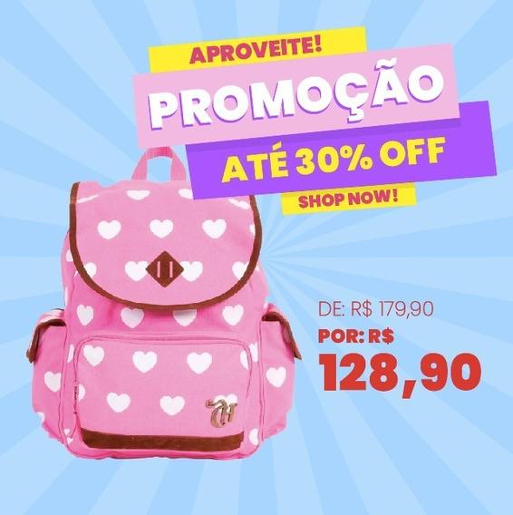 Mochila Capricho Max Hearts Pink - 48934