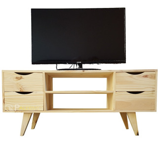 Mesa Tv Led Mueble Rack Nordico Escandinavo Madera 36x120cm