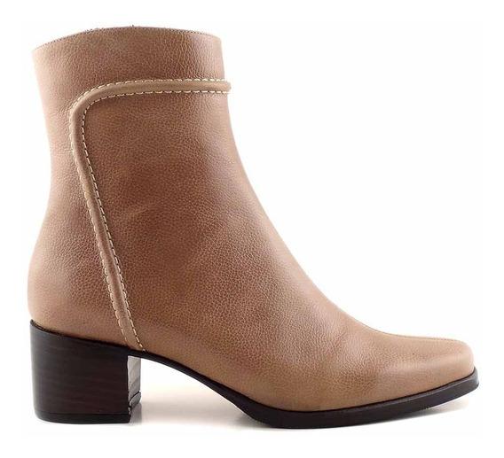 Bota Botineta Mujer Cuero Briganti Zapato Casual - Mcbo24766