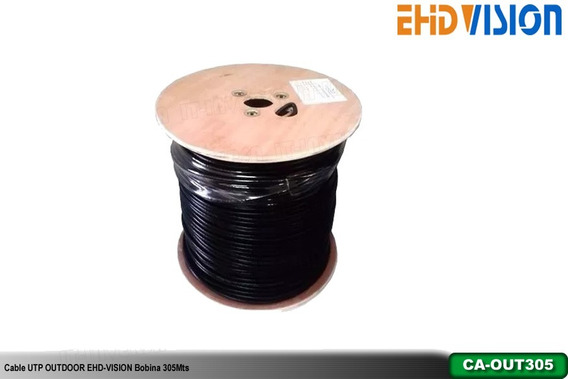 Cable Utp Outdoor Ehd-vision Cat6 Bobina 305mts, 75% Cobre