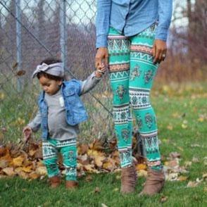 Leggins Con Estampado Para Mamá E Hija