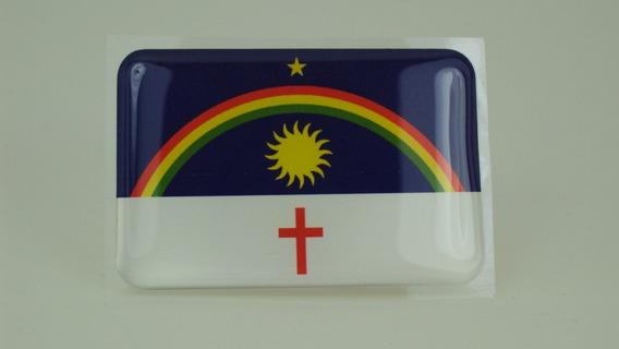 Bandeira Estado Pernambuco Bandeirinha Resinada Adesivo#