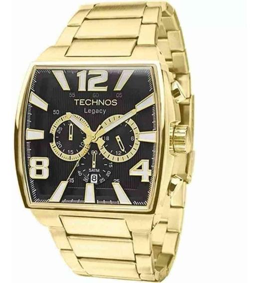 Relógio Technos Masculino Analógico Dourado Js25ar/1d +nf