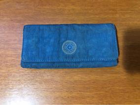 cf01699fd Carteira Kipling Azul Usada Com Macaquinho ! - Carteiras, Usado no ...