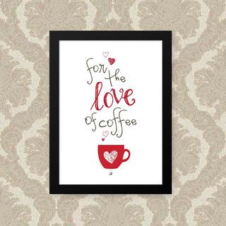 Quadro Decorativo 23x33 A4 Love Coffee