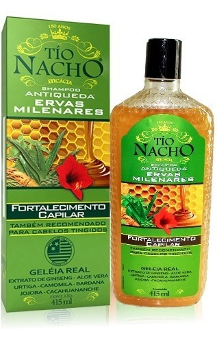 Shampoo Antiqueda Tío Natcho Com Geleia Real 415ml