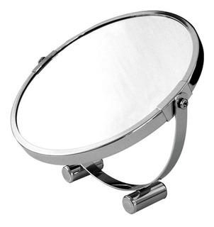 Espejo 2 Caras Daccord Doble Apoyar Baño Metal Vidrio