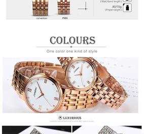 Relógio Dourado Sinobi Luxo/elegância Das Mulheres Famosas
