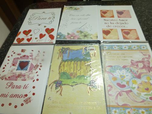 Tarjetas Amor Y San Valentin Bordes En Dorado _ 10 Diseños