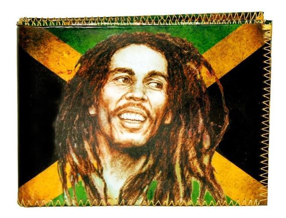 Billetera Bob Marley Música Reggae Jamaiquino Tarjetero