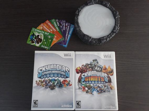 Skylanders (giants E Spyros) 2 Jogos + 9 Bonecos Wii