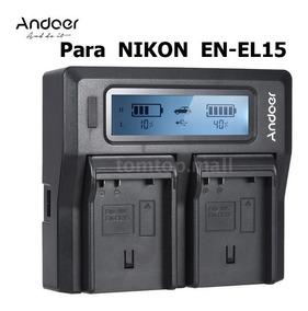 Carregador Rápido Duplo Digital Para Nikon En-el15