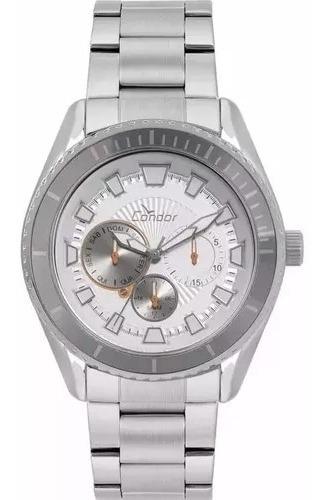 Relógio Masculino Prata Condor Grande A Prova D