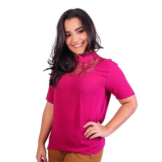 Blusa Feminina Com Renda Heli - Asya Fashion