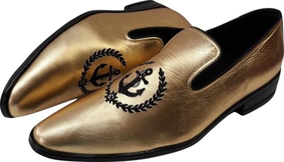 Sapato Masculino Madri - Madri Bordado Mocassim Ref:6003