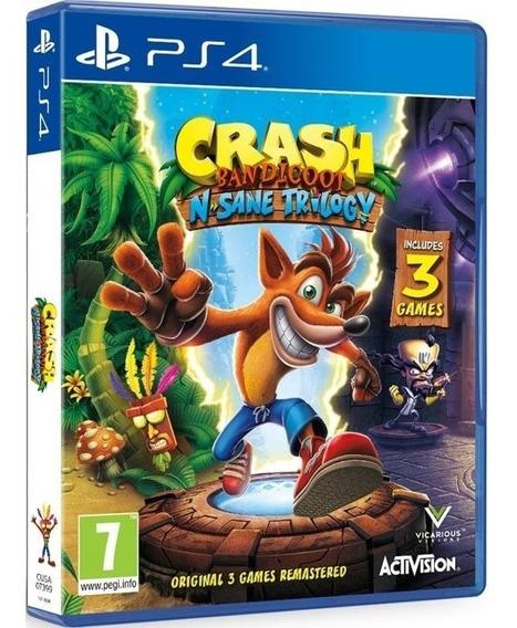 Jogo Crash Nsane Trilogy Ps4 Midia Fisica Original Promoção