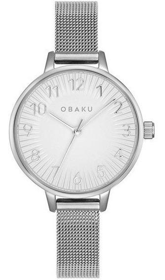 Reloj Obaku V237lxcimc Acero Plateado-blanco Dama Original