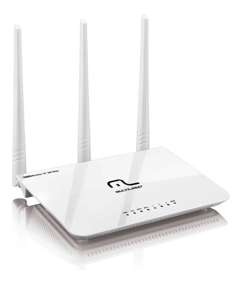 Roteador Wireless Multilaser Re163 V 300mbps Wi-fi 3 Antenas