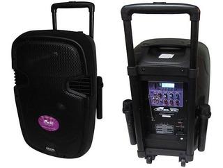Parlante Portatil 15 Bateria Bluetooth 2 Mic Inalambrico Pro
