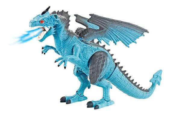 Brinquedo Thorn O Dragão De Gelo Controle Remoto C/ Luz Som