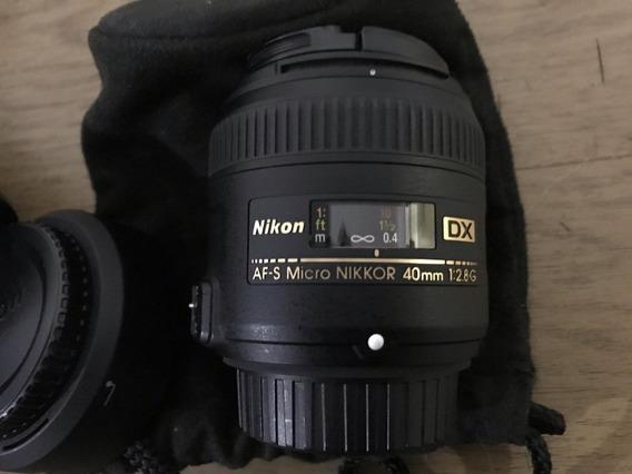 Lente Nikon Af-s Dx Micro Nikkor 40mm F/2.8 G