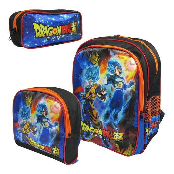Kit Escolar Mochila De Costas Dragon Ball Super Tamanho G