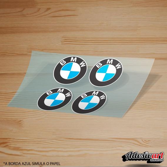 Kit De Adesivos Logo Bmw Carro Moto Decorativo Personalizado Roda Carenagem 45mm