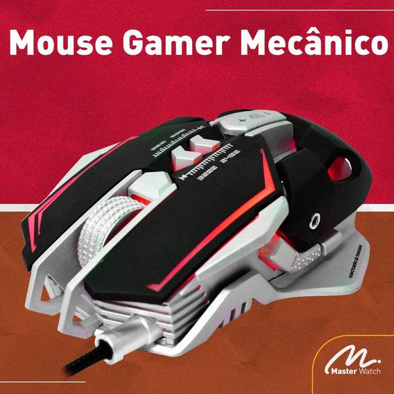 Mouse Gamer Mecânico 3200dpi Com Mousepad K-mex Mo-d837