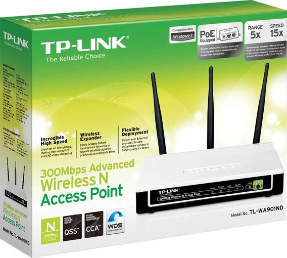 Ponto De Acesso Wireless N 3 Antenas 300 Mbps Tp Link Un