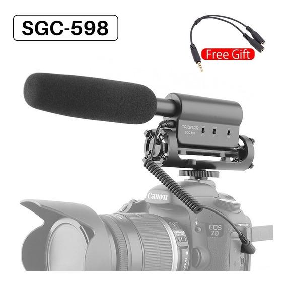 Microfone Para Câmera - Preto Preto