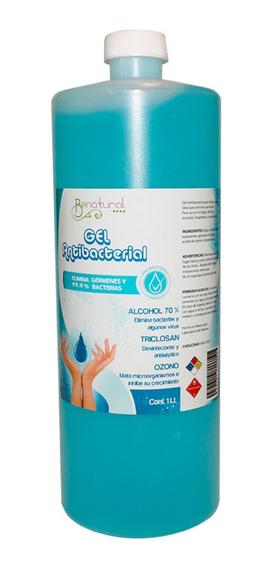 Paquete De 5 Botellas Gel Antibacterial De 1l