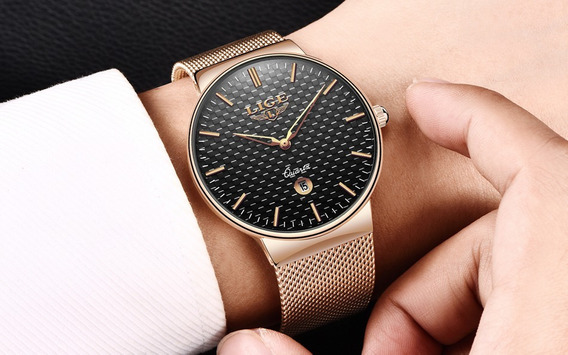 Relógio - Lige - Original - 40mm - Hardlex - Em Estoque