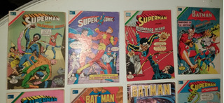 Lote De Comics Batman Y Superman Edit. Novaro Año 1979 1980