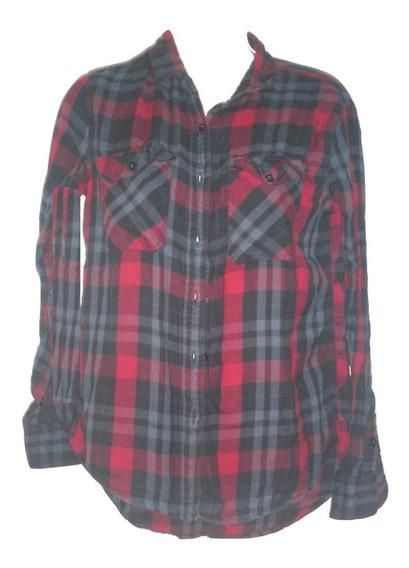 Forever 21 Camisa-blusa Dama Cuadros Talla S Seminueva Manga Larga Liquidacion $289a