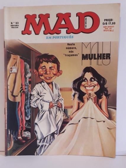 Revista Mad N° 63 Agosto/ 1979, Editora Vecchi - Malu Mulher