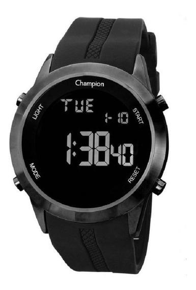 Relógio Champion Digital Redondo Pul.silicone Ch40259d