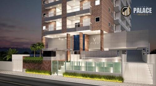 Imagem 1 de 30 de Apartamento Com 3 Dormitórios À Venda, 105 M² Por R$ 601.850,99 - Vila Guilhermina - Praia Grande/sp - Ap1192