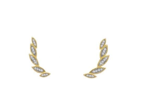Brinco De Ouro 18k Ear Cuff - O13