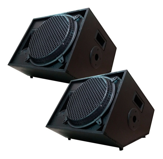 Kit 2 Caixa Retorno Palco Music Way 450w Rms Plug P10