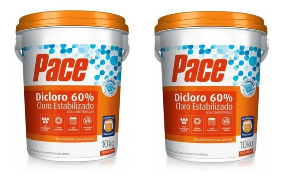 Kit Duas Unidades Pace Dicloro 60% - 10 Kg